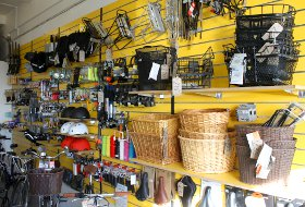 Lots of accessories at High Tide Cycles